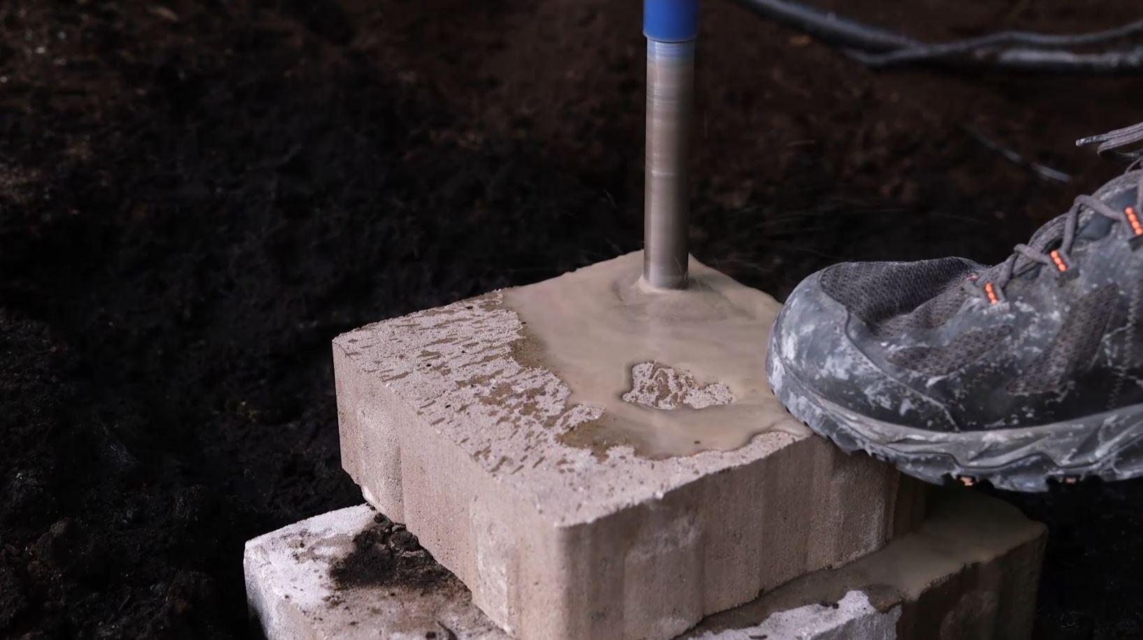 piercing a hole